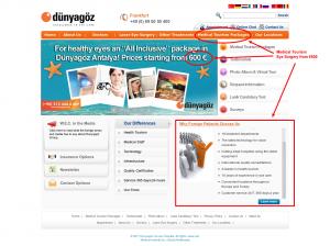 Διαφήμιση Τουρκικού ιστοτόπου για πακέτο πολυτελών διακοπών μαζί με χειρουργική λέηζερ ματιών!