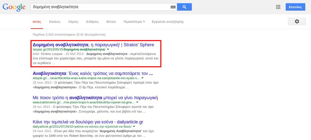 Google search: Δομημένη Αναβλητικότητα
