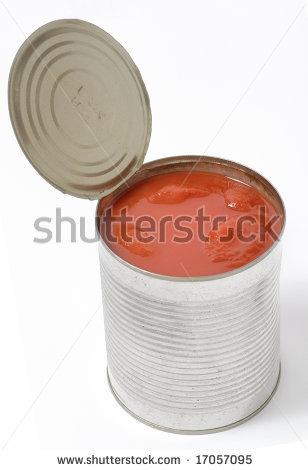 Ντομάτα σε μεταλλική κονσέρβα